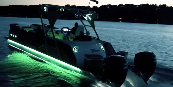 LED-Lights-on-a-Pontoon-Boat