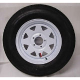 15-White-Spoke-Trailer-Wheel-with-Bias-ST205-75D15-Tire-Mounted-(5x4.5)-Bolt-Circle
