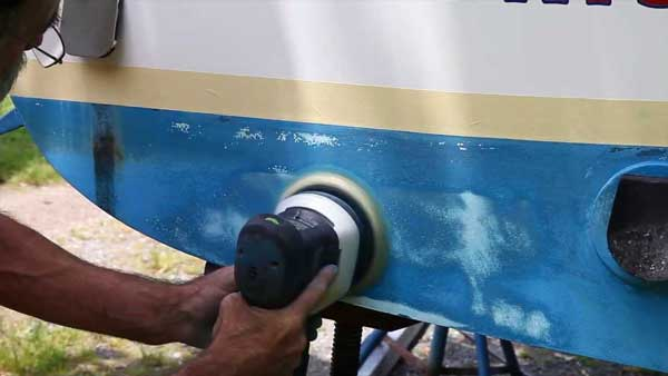Sanding and Painting the Boat