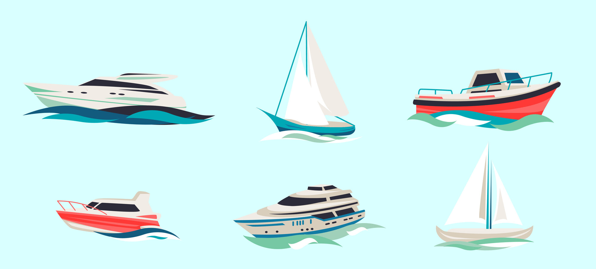 different types of boats